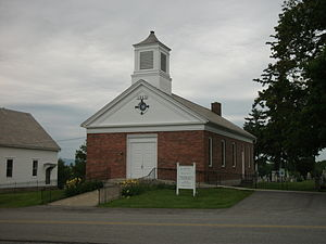 Bridport, Vermont - The Bridport Congregational Church in town