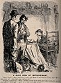 A doctor asking his patients husband how she is, he replies Wellcome V0011465.jpg