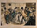 A drunken scene in a dancing hall with a sly customer eyeing Wellcome V0019424.jpg