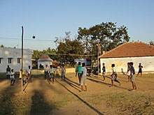 A scene of Volleyball play in Ervadi village..JPG