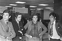 Aankomst Benfica op Schiphol, vlnr Toni, Baptista, Ge Umberto, Bestanddeelnr 925-5027.jpg
