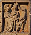 Abbaye Saint-Pierre de Brantôme Sculpture baptême du Christ.JPG