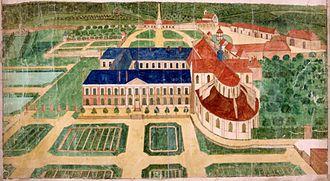 Beaubec-la-Rosière - A view of the Abbey of Beaubec-la-Rosière, around 1750