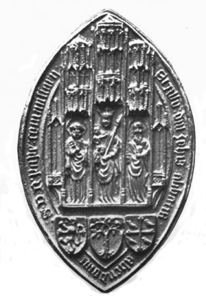Abbot of Abingdon - Another abbey seal, belonging to John Sante
