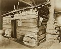 Abraham Lincoln's childhood home (Lincoln log cabin in Lincoln Museum) on display at the 1904 World's Fair.jpg