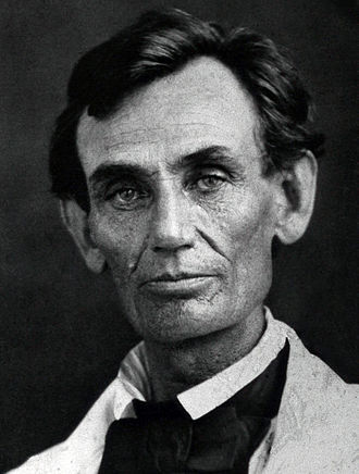 Lincoln–Douglas debates - Image: Abraham Lincoln by Byers, 1858 crop