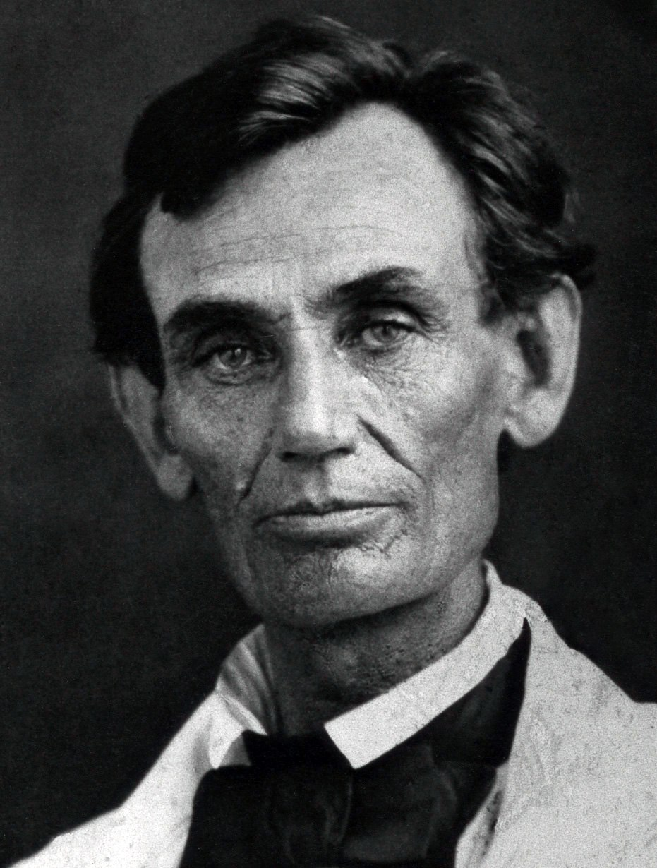 Abraham Lincoln by Byers, 1858 - crop