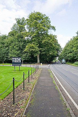 IBM 3090 - Image: Access road to IBM Hursley off A3090 geograph.org.uk 959399