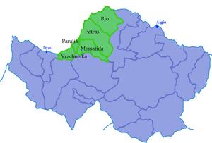 Achaia cities Patras suburbs