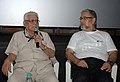 Actor, Producer & Director, Basu Chatterjee along with the film Director, Ramesh Tekwani addressing at the press meet, during the 42nd International Film Festival of India (IFFI-2011), in Panaji, Goa on November 27, 2011.jpg