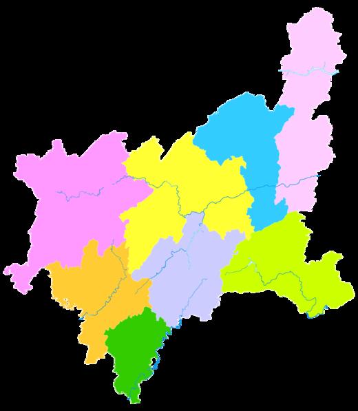 Enshi Tujia And Miao Autonomous Prefecture Wikipedia - Enshi map