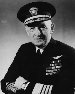 United States Navy Admiral and Navy Cross recipient