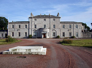 Mount Wise, Plymouth - Admiralty House, Mount Wise, built in 1789-93, originally known as Government House, to serve as the home of the military Governor of Plymouth, at the height of fears of a French invasion following the French Revolution (1789)