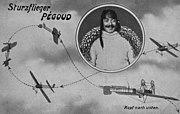 Le «looping» d'Adolphe Pégoud.Carte postale allemande de 1913.