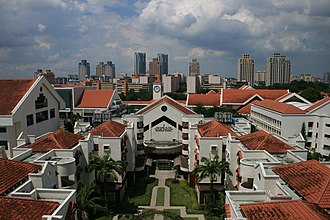 Bishan, Singapore - An aerial view of the Bishan campus of Raffles Institution