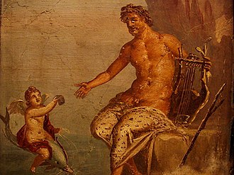 Polyphemus - Polyphemus receives a love-letter from Galatea, a 1st-century AD fresco from Pompeii