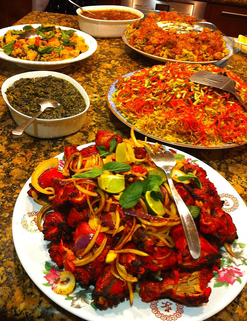 File afghanfood jpg wikimedia commons for Afghanistan cuisine