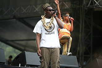 M.I.A. (rapper) - Afrikan Boy, an Afrobeat/grime London MC with Nigerian roots supporting M.I.A. at the Rock en Seine Festival, 2007