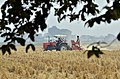 Agriculture in India tractor farming Punjab preparing field for a wheat crop without burning previous crop stalk.jpg