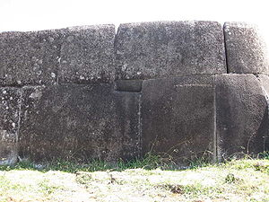 Ahu Vinapu - A part of Ahu Vinapu, showing the precision of the stonemasonry