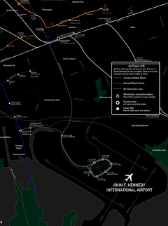 AirTrain system map