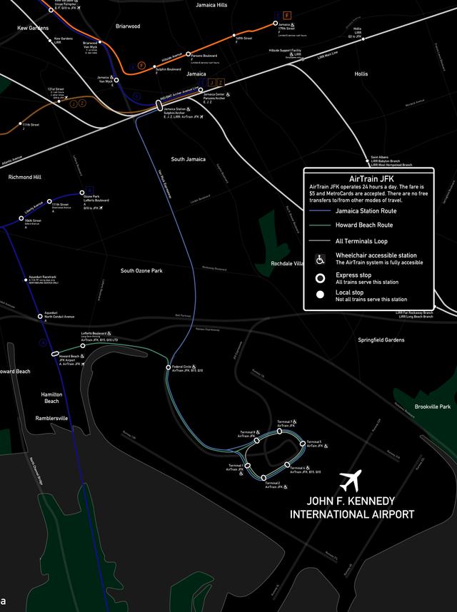 Nyc Subway Map Airtrain.Airtrain Jfk Wikiwand