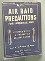 Air Raid Precautions For Australians handbook on display at the RAAF Museum.jpg