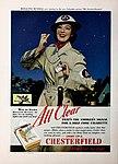 Air Warden Rosalind Russell - All clear. Light up a Chesterfield, 1942.jpg