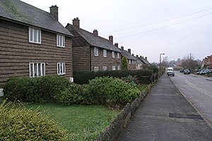 Airey house - Airey Houses in Harthill, South Yorkshire.