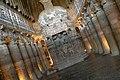 Ajanta Caves, India, Interior of Ajanta chaitya (stupa) worship hall, Cave 26.jpg