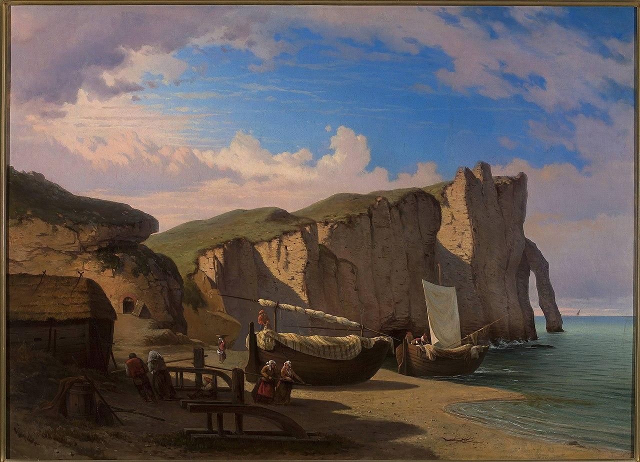 Альберт Жаметт - Вид на Кап д'Идентифер в Этрете, Нормандия - MP 2491 MNW - Национальный музей в Этрете, Нормандия Warsaw.jpg