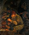 Alchemists. Oil painting after Jan Steen. Wellcome V0017677.jpg