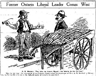 Alexander Grant MacKay - The Toronto Press Lampooning A.G. MacKay for moving west