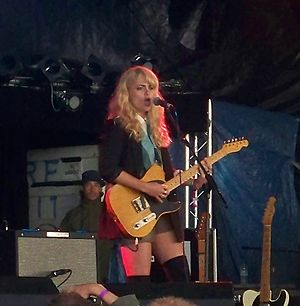 Alice Gold - Alice Gold performing solo onstage at Guilfest 2011