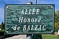 Allée Honoré de Balzac (Belley), panneau de rue.jpg
