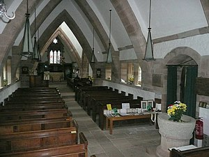 Brockhampton-by-Ross - All Saints' interior
