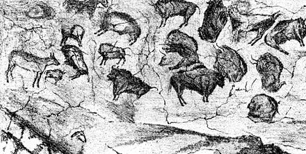 Image result for Wiki commons painting from the Altamira Cave