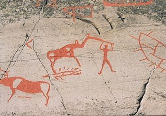 Rock carvings at Alta - Image: Altarockcarvings 2