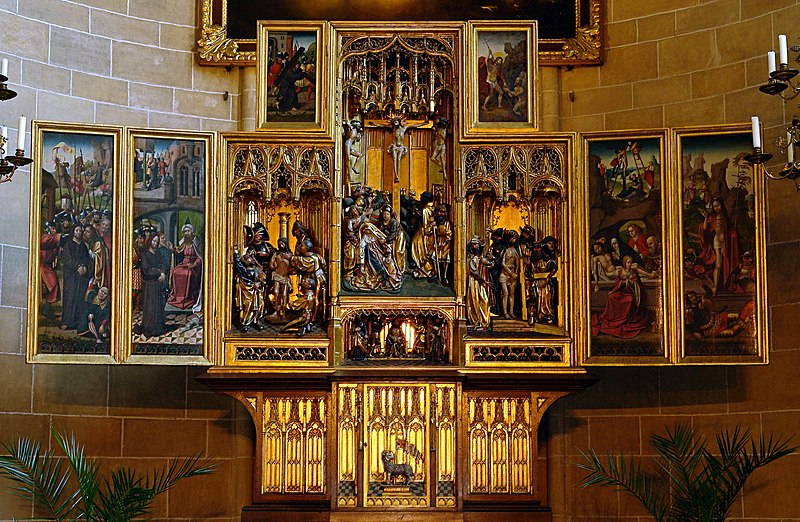 File:Altarpiece of the Deutschordenskirche (Wien).jpg