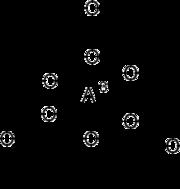 Skeletal formula of aluminium acetoacetate