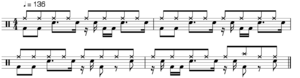 Amen break - Image: Amen break notation