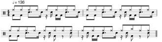 Amen break - Image: Amen break notation
