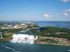American and Bridal Falls as seen from Skylon Tower.jpg