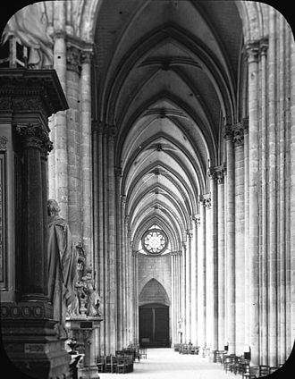Amiens Cathedral - The north aisle, 1903