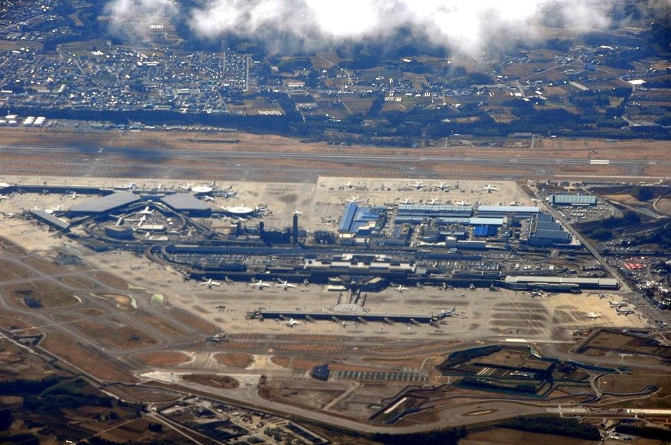An aerial view of Narita International Airport