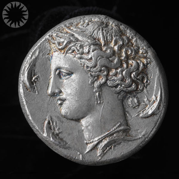 File Ancient Greek Silver Coin Dekadrachm About 400 B C