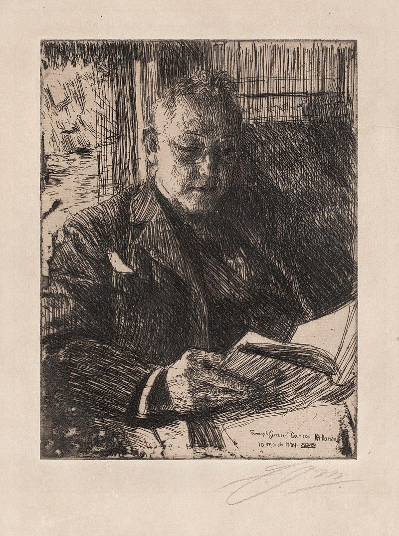 Anders Zorn - The travel companion (Mr. Charles Deering) (etching) 1904.jpg