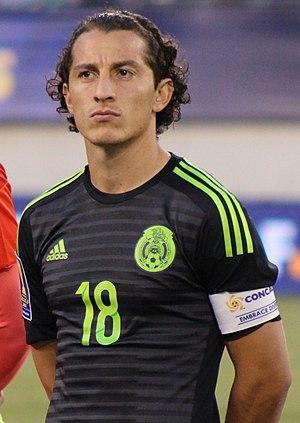 Andrés Guardado - Guardado captaining Mexico in July 2015