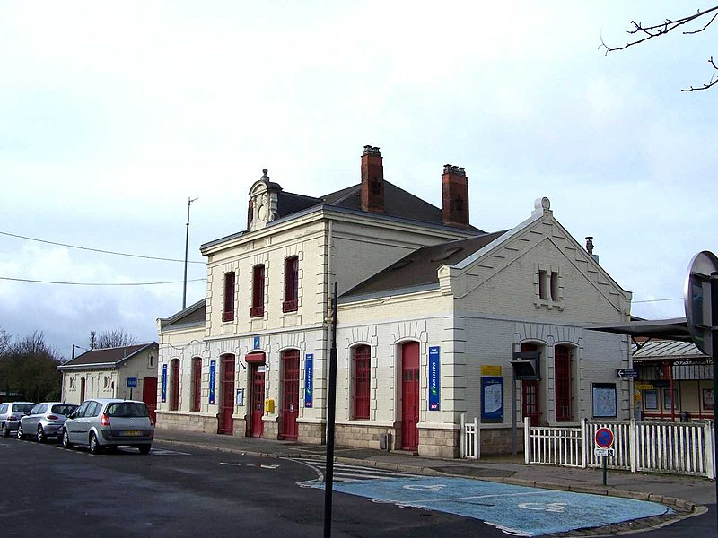 Railway station of Andrésy (Yvelines, France)