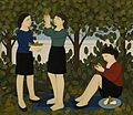 "Andrew Stevovich oil painting, In the Garden, 2006-2007 62"" x 72"".jpg"